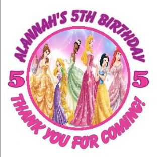 Personalised Disney Princess Party Stickers